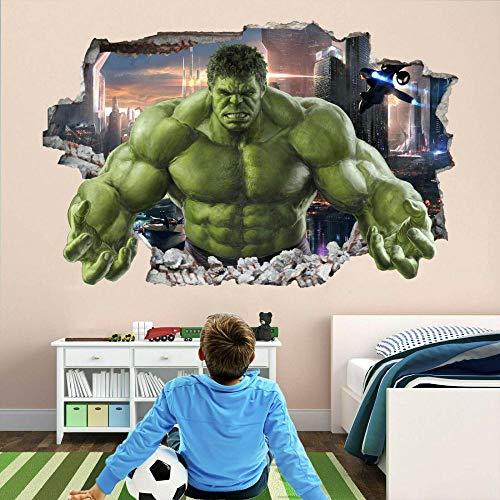 Pegatinas de pared Super película héroe pared arte pegatinas mural calcomanía niños dormitorio decoración80*120CM
