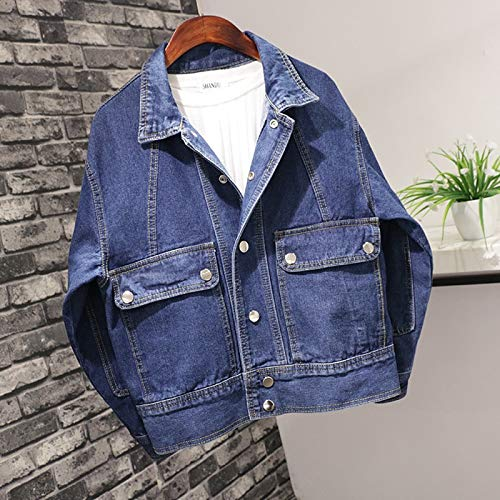 NZJK dames casual denim vintage jas dames grote mouwen blauwe jeansjas korte mantel dames casual