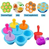 Popsicle Molds Maker Ice Pop Molds with Sticks for Kids Toddlers, Reusable...
