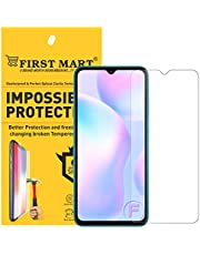 FIRST MART - A BRAND WORTH REMEMBERING Screen Protector Tempered Glass for Redmi 9A / Mi 9/9 Prime/Realme Narzo 20 / 20A - Crystal Clear Transparent Full Screen Coverage (Except Edges)