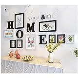 Li Li Na Shop Bilderrahmen Kreative Alphabetfotorahmenkombination einfacher stilvoller Foto-Wandkasten der festen Holz-9 (Color : C)