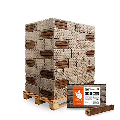 PALIGO Holzbriketts Laubholz Pinikay Quadro Kamin Ofen Brenn Holz Heiz Brikett 10kg x 96 Gebinde 960kg / 1 Palette Heizfuxx