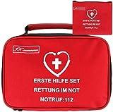 IK-Commerce Erste-Hilfe-Set, 154-teilig, inklusive Bandagen, Rettungsdecke für Zuhause, Büro,...