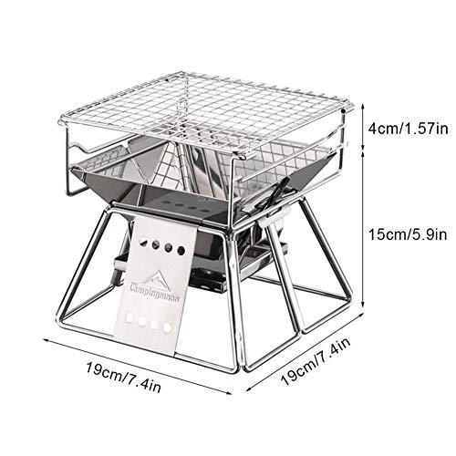51wQzzLzdxL - Lcb Grill im Freien Grill, klappbare, tragbare Kochen im Freien Werkzeug, Camping Wandern Picknick, tragbaren Holzkohle Innen- und Außengrill, Grillzubehör