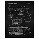 Vintage Glock Gun Patent Poster Prints, Set of 1 (11x14) Unframed Photo, Great Wall Art Decor Gifts Under 15 for Home, Office, Studio, Garage, College Student, Teacher, Cowboys, Movies & NRA Fan