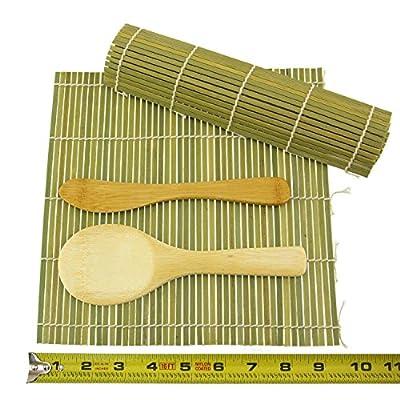 JapanBargain, Bamboo Sushi Mat Roller Sushi Rolling Making Kit Rice Paddle Scoop Butter Spreader