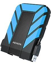 ADATA HD710 Pro – 1 TB, extern hårddisk med USB 3.2 Gen.1, IP68-skyddsklass, blå, hållbar, vattentät och dammtät med militär seghet i flera lager