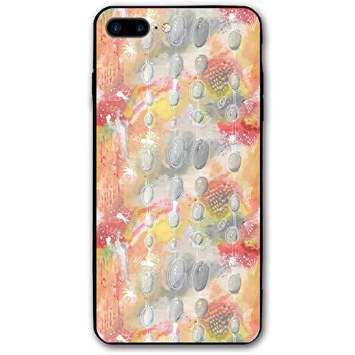HNJZ-GS Aquarell Perlenvorhang iPhone 7 Plus 8 Plus 7/8 Plus Handyhülle Thema dekorative Handyzubehör