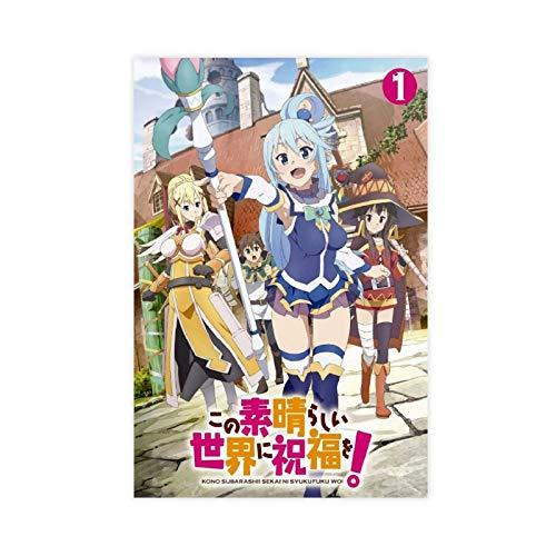 Anime Konosuba God's Blessing on This Wonderful World!4 - Póster de lona para decoración de dormitorio, deportes, paisaje, oficina, habitación, regalo, 50 x 75 cm, estilo unframe-1