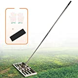 IWONGO Lawn Leveling Tool 30'' x 10'' with Upgraded Pole - Rake Leveling with 72'' Long Stainless Steel Handle, Lawn Levelers for Soil Sand Dirt Top Dressing
