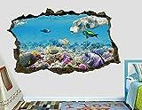 Peces el mar animales de acuario animales salvajes pared calcomanía decoración arte mural animales H950-PegatinasDe Pared Calcomanía Decoración - 50x70cm