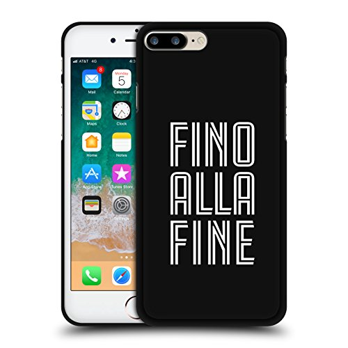 Head Case Designs Licenza Ufficiale Juventus Football Club Fino alla Fine Design Vari Cover Nera in Morbido Gel Compatibile con Apple iPhone 7 Plus/iPhone 8 Plus