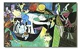 Cuadro Decoratt: Pesca nocturna en Antibes - Pablo Picasso 101x62cm. Cuadro de impresión directa.