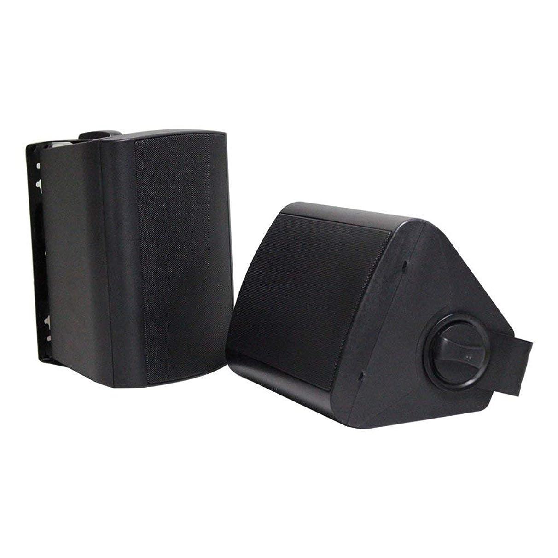 """Herdio 4"""" Outdoor Bluetooth Speakers Waterproof Patio Deck Wall Mount Speakers"""