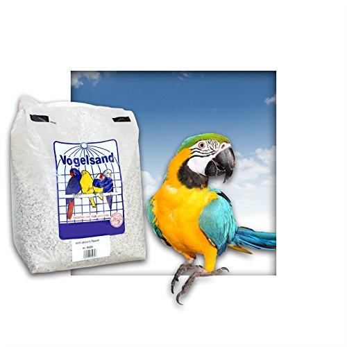 5 kg Papageiensand Vogelsand mit Kalk und Anis (grob/naturweiss)