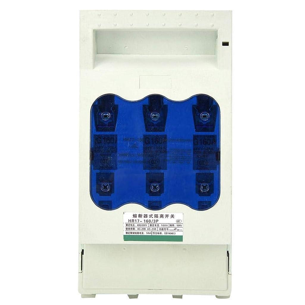 職人粘土ミュートZJN-JN 遮断器 ヒューズタイプ隔離スイッチ、HR17B-30分の160ディス、産業ヒューズディス160A 3ポール(真鍮)をスイッチ