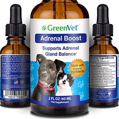 Green Vet Best Canine Cushings Drops - Premium Adrenal Support for Dogs – Dog Herbal Cushings Supplement for Overall Health and Wellbeing