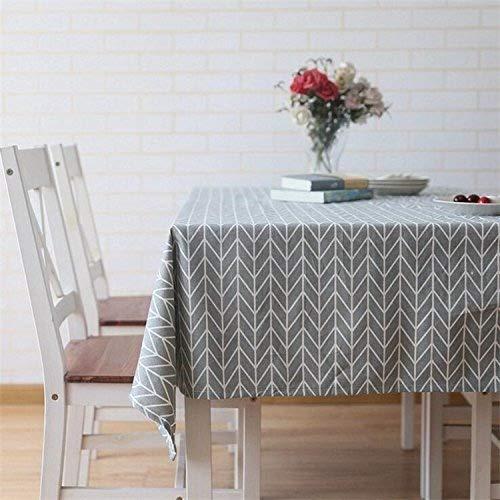 meioro Tischdecke Rechteckige Tischdecken Baumwolle Leinen Tischwäsche Einfaches Twill Tischtuch Geeignet für Home Küche Dekoration, Verschiedene Größen