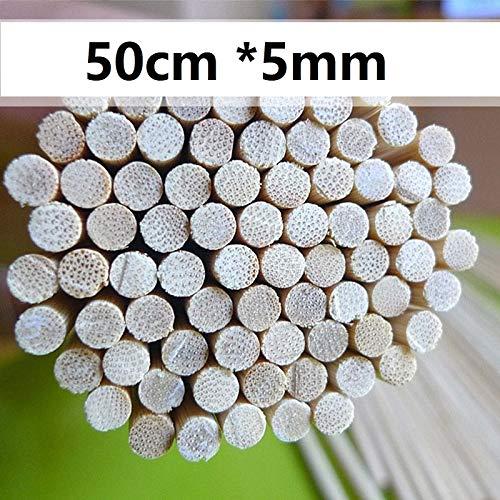 51wR0buOgGL - HONG YU 200 Stück 50cm * 5mm Bambusholzgrillspieße Naturholzschläger Fleisch Shish Kebob Stock-Grill-Zubehör Restaurant Bar Versorgung (Farbe : 200pcs)
