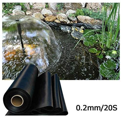 Fischteich Liner Tuch Hause Garten Pool Verstärkt HDPE Landschaftsbau Pool Teich Wasserdichte Liner Tuch Reservoir Proof Feuchtigkeit Teichplane, 0.2mm Stärke ( Color : Black , Size : 5x10m )
