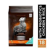 Purina Pro Plan 成犬用 風味のある細切り チキン & ライスのブレンドフォーミュラ ドッグフード 18 lb. Bag 38100130532