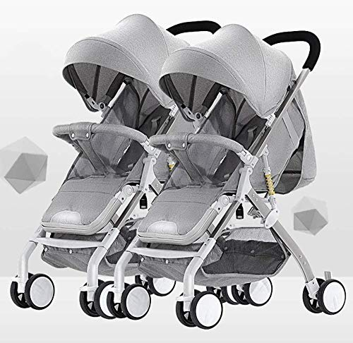 Fantastic Deal! Pushchairs Tandem Foldable Stroller Easy Folding Baby Stroller with Side by Side Twi...