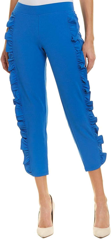 Hue Women's Ruffled Crepe Loafer Skimmer Leggings Regatta bluee