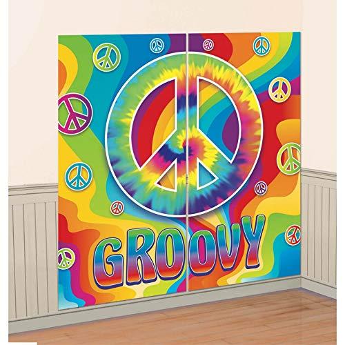 amscan Scene Setters Décorations Motif 60 's Groovy Kit de décoration Murale