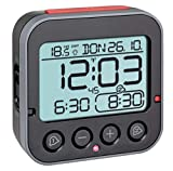 TFA Dostmann Bingo 2.0 - Reloj Despertador Digital con indicador de Temperatura, plástico, Color Negro, 95 x 41 x 96 mm