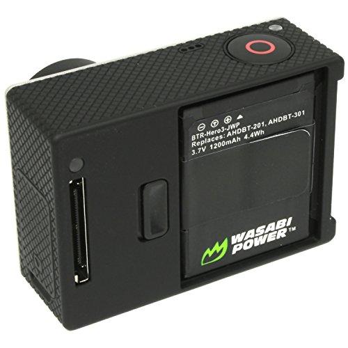 Wasabi Power Battery for GoPro HD HERO3, HERO3+ and GoPro AHDBT-201, AHDBT-301, AHDBT-302 (1200mAh)