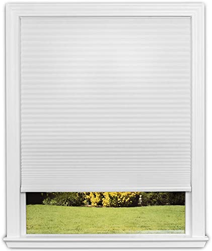 """2021 Redi Shade Easy Lift Trim-At-Home Cordless Cellular Light Filtering Fabric lowest Shade (Fits Windows 19""""-36""""), 36 Inch x 64 popular Inch, White outlet online sale"""