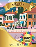Coloring Books - Color by Numbers Adults: (Series 9) Coloring with numbers worksheets. Color by numbers for adults with colored pencils. Advanced color by numbers