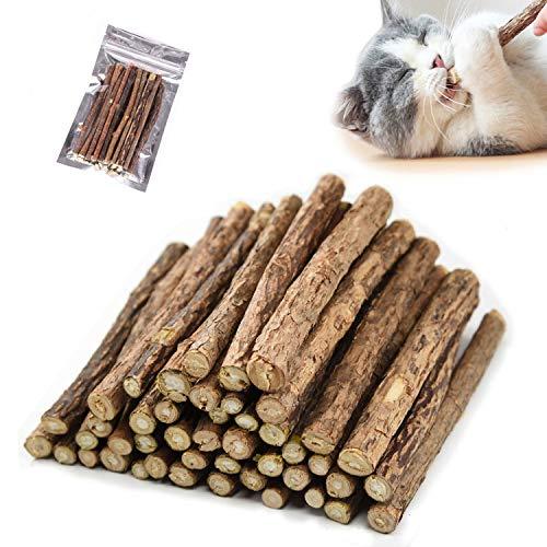 GingerUPer 30 Stück Katzenminze Sticks,Matatabi Katzen Kauhölzer, Matatabi-Kausticks als Katzenspielzeug, Katzenminze Sticks zum Schleifen von Zähnen, natürlich,Matatabi Zahnpflege