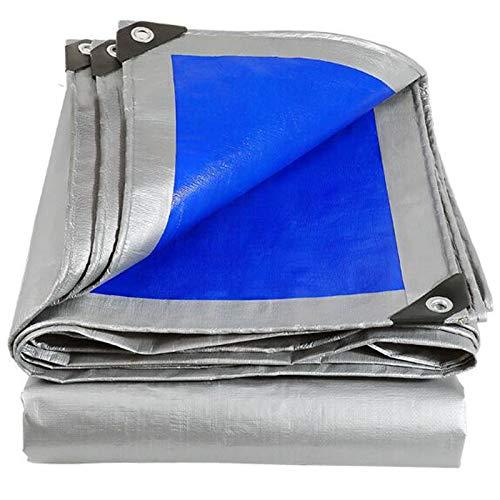 Lona Hoja de Lona Impermeable Camping Ligera Lona for Coche camión toldo de Tela (Color : Blue, Size : 3X4m)