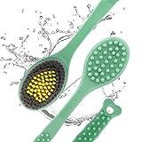 Set di spazzole esfolianti per il corpo doccia di alta qualità, adatto per il massaggio del corpo, spazzola da bagno per la pulizia della schiena della pelle secca o bagnata (Verde)