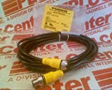 TURCK ELEKTRONIK RKC 8T-4-RSC 8T/S1555 Double Ended, 8-PIN, 4M Cable, PVC Black, 75V, U0879-84, EUROFAST Molded CORDSET, M12, 2AMP, Straight Male to Female Connector