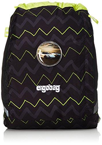 ERGOBAG cubo Sportspack 16 Turnbeutel, 45 cm, 11 L, Black Zigzag