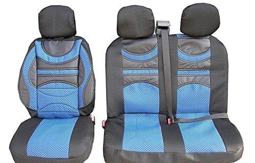 2 + 1 blauw premium beklede stoelhoezen hoezen stof polyester nieuw hoogwaardig