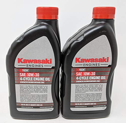 Kawasaki Pack of 2 99969-6081 SAE 10W-30 4-Cycle Engine Oil Quart