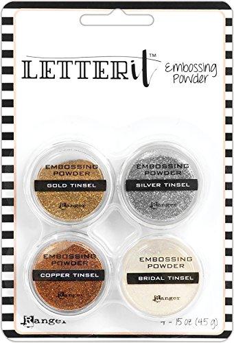Ranger Set Letter It Polvos Embossing Tinsels