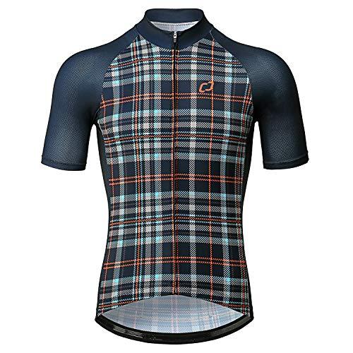 CATENA Herren Radtrikot Kurzarm Fahrradtrikot Fitness T-Shirt Sport Shirts Atmungsaktive Schnell Trocknen Stoff schnelltrocknend Fahrradbekleidung,Tibetisches Grün,M