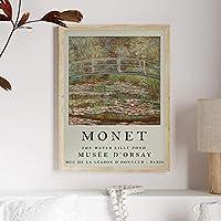Claude Monet水ユリ壁アートパネル池風景ポスター有名な展示会帆布絵画インテリア印象派写真モダン版画リビング ルーム部屋北欧装飾画