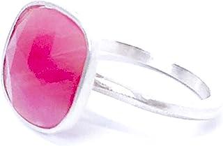 Anello delicato con prezioso zaffiro rosa di 12 mm x 11 mm e 5,3 carati, realizzato interamente a mano in argento sterling.