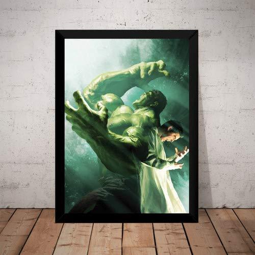 Quadro Incrivel Hulk Marvel Hq Arte De Alex Ross