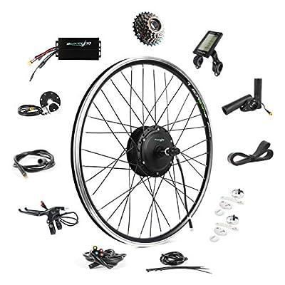 """EBIKELING 36V 500W 26"""" Geared Waterproof Electric Bike Kit - Ebike Conversion Kit - Electric Bike Conversion Kit (Rear/LCD/Thumb)"""