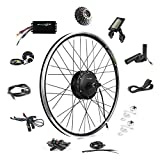 EBIKELING 36V 500W 26' Geared Waterproof Electric Bike Kit - Ebike Conversion Kit - Electric Bike Conversion Kit (Rear/LCD/Thumb)