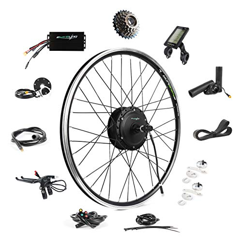 "EBIKELING 36V 500W 26"" Geared Waterproof Electric Bike Kit - Ebike Conversion Kit - Electric Bike Conversion Kit (Rear/LCD/Thumb)"