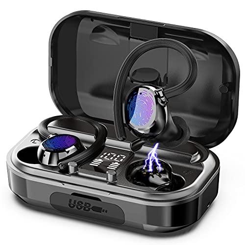 Judneer Bluetooth Kopfhörer, Bluetooth 5.0 Kabellos Kopfhörer In Ear Sport Kopfhörer mit CVC 8.0 Noise Cancelling, HiFi Stereo Sound Ohrhörer mit HD Mikrofon, mit 56Stunden Spielzeit, IP7 Wasserdicht