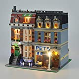 Juego De Luces Compatible con Lego 10218, Set De Iluminación En (Tienda De Mascotas Creador De Expertos) Building Blocks, Sólo Juego De Luces