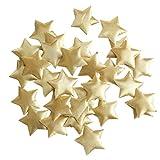 F Fityle 100 Piezas de Purpurina Dorada Estrella Confeti Espolvorean Decoración Metálica Iridiscente